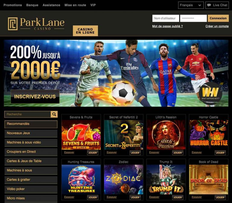 Parklane casino, le meilleur choix de casino en ligne